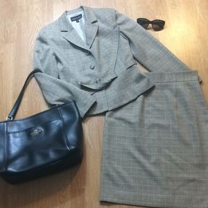 Two piece dress suit